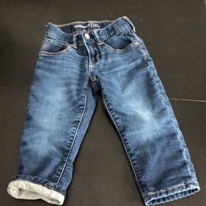 Baby Gap 2 years jeans with jersey lining
